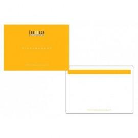 Notitiekaartje/spiekkaartje/blanco tippenkaartje